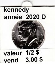 pièces de 1/2  $  kennedy   2020 D