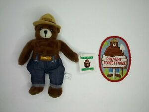 Vintage 1994 Smokey The Bear 7in. Plush & Vintage Prevent Forest Fires Patch
