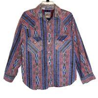 Vintage Rocking K Ranchwear By Kennington Western Shirt Cowboy Print Size Medium