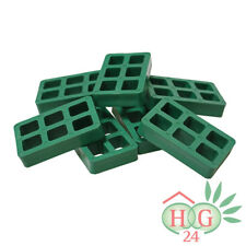 100 Inovatec Gitterklötze 80x50x15mm grün Montage Lastabtragung Ausgleich NEU