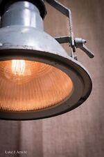 Mid 20th Century Industrial / Shop Grey Holophane Pendant Light - Fully Restored