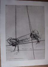 Gravure signée Tamerlano DADO Suite Haendel 1990 surréalisme surrealism pl 8 ***
