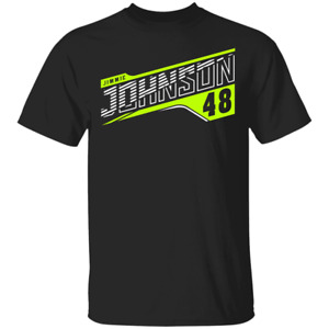 Men's Jimmie Johnson #48 Team Collection Nascar Racing Black T-shirt S-4XL