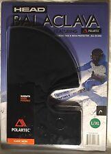 HEAD Balaclava Micro Polartec 3-in-1 Black Spandex -NEW SEALED- Size L / XL Mask