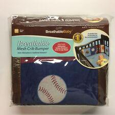 BreathableBaby Breathable Mesh Crib Bumper - Sports Theme