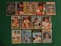 VINTAGE BASEBALL MIXED LOT OF 13 CARDS (1959 THRU 1972) 👀