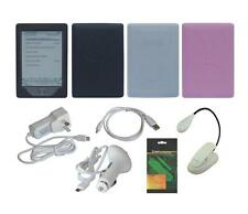 """8 Item Accessory Bundle Charger Skin Case for Amazon Kindle 6"""" 2012 4th Gen"""