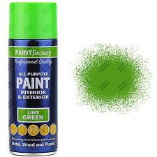 7 x 400ml All Purpose Lime Green Gloss Spray Paint Household Car Plastic