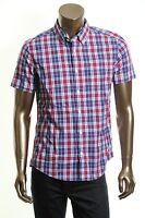 TOMMY HILFIGER NEW Men's Multi Color Custom Fit Plaid Button Down Shirt TEDO
