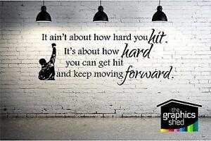 rocky quote design wall art vinyl
