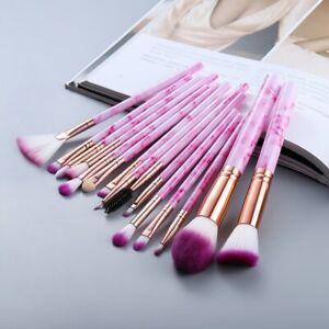15Pcs Makeup Brushes Tool Set Cosmetic Powder Eye Shadow Foundation Blush  Pack