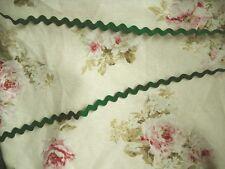 2 m Zackenlitze  Zickzackband aus Baumwolle 10 mm verschiedene Farben