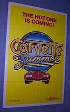 Origina CORVETTE SUMMER Movie Poster Rare Advance Style