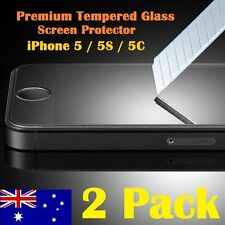 2X Scratch Resist Tempered Glass Screen Protector Film Guard for iPhone 5 5S 5C