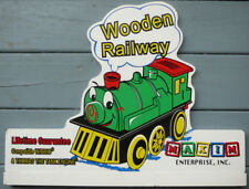 Maxim Wooden Railway,Toy Train Railroad Locomotive Advertising Display Sign