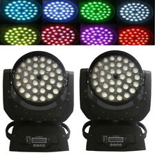 2Pcs 36x Led Stage Light Wash 10W Moving Head Rgbw with Zoom (4 In 1)