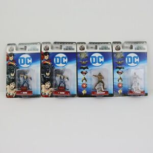 NANO DieCast Metal Fig DC Comics Bane Cyborg Aquaman LOT of 4 NEW
