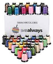 Embroidery Machine Polyester Thread Cones Spools 500m Colors Bobbin 40 Brother