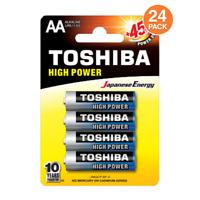 Toshiba AA Batteries LR6 E91 MN1500 1.5v High Power Alkaline (24 Batteries)