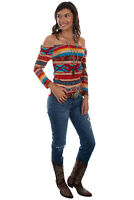 Scully Women's Serape Rayon Ballet Top 3/4 Sleeve Tunic HC516