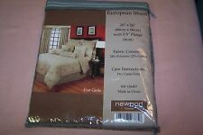 "NEWPORT HOME EUROPEAN SHAM 26"" x 26"" with 2.5"" Flange Post Cards NEW in Pack WOW"