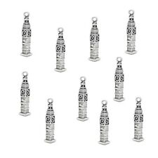 10 x Tibetan Silver Big Ben Clock Tower Charms
