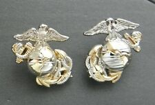 Us Marine Corps Globe Anchor Officer Lapel Pin Set Of 2 Left And Right 1 Inch