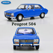 Blue Peugeot 504 1975 WELLY NEX 1:18 Scale Diecast Model Car Collection & Toys