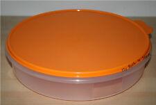 "Tupperware 12"" Round Pie/Cup Cake/Pizza Taker  Sheer / OrangeNEW"