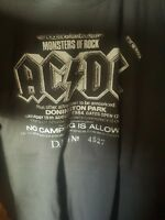 ACDC  Donington Monsters of Rock 1984 retro handmade ticket stub shirt classic