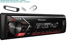 Pioneer mvh-s300bt USB Bluetooth MP3 RDS AUX INSTALLATION SET FOR VW New Beetle