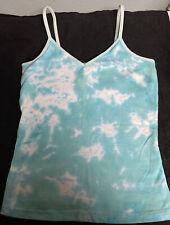 American Apparel Retro Tie Dye Tank With Shelf Bra Women's M Soft Cotton