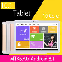 10'' Tablet PC 64GB Android 8.1 Octa 10Core 2Ghz 10 Inch HD WIFI 2SIM 4G Phablet