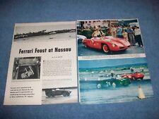 "1956 Nassau Speed Week Vintage Race Highlights Article ""Ferrari Feast at Nassau"""