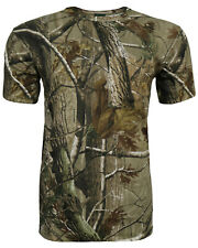 Children's Camouflage T-Shirt RealTree Print Forest Camo Short Sleeve Top 3-13Yr