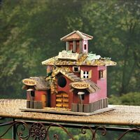 Valley Winery Wood Birdhouse Wine Bar Bird Watching Outdoor Patio Decor