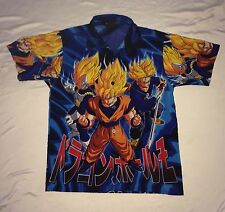 Dragon Ball Z Button Anime Button Front Polyester Shirt Youth Kids Small 8 10