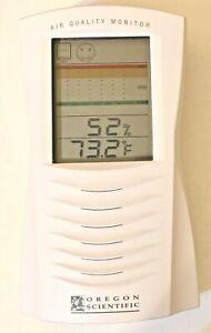 OREGON SCIENTIFIC Indoor Air Quality Monitor AR112C Monitors VOC Alerts