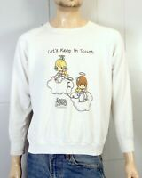 vtg 90s retro 1991 Precious Moments Sweatshirt Let's Keep in Touch Phone Call L