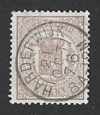 Nederland 1869 NVPH 13D met kleinrond (tweeletter) stempel HARDERWIJK 21 OCT 76