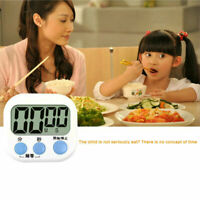 Large LCD Digital Kitchen Cooking Timer Count Down Up Clock Loud Alarm & Stand