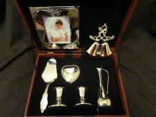WEDDING ACCESSORIES COLLECTION SEVEN PIECE SILVER PLATED SET $285