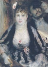 """Pierre-Auguste Renoir : """"THE LOGE"""" Lg. Art Card / Postcard!"""
