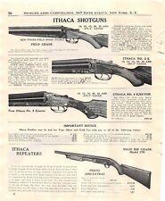 Ithaca Shotgun Vtg 1947 Print Advertisement History of Lefever and Ithaca Gun Co