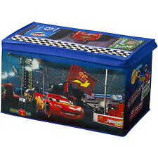 Cars Toy Box Disney Pixar Lightning McQueen Character Kids Room Playroom Storage