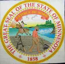 MINNESOTA STATE SEAL - Display your travels! - Printed Patch - Sew On