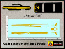 Hot Wheels '64 Ford Galaxy 500' METALLIC GOLD Decal SCR-0157M