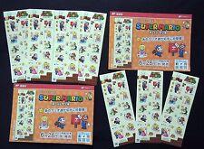 SUPER MARIO Greeting Stamp Sheet x 7 Set Nintendo Limited Edit. on Sale 6/28/17'