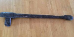 ANTIQUE HAND CARVED DECORATIVE CEREMONIAL STONE AXE