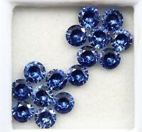 15 Ct Natural Blue Tanzanite Round Cut Gems Origin Tanzania GGL Certified 15 pcs